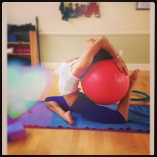 pilates ball ideas